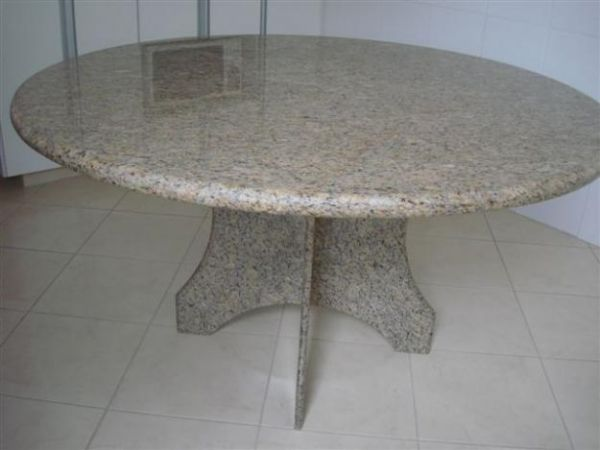 Mesa de granito amarelo samoa light marmoraria exata - Mesa de granito ...