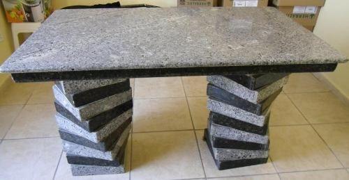 Mesa de granito cinza castelo marmoraria exata - Mesa de granito ...